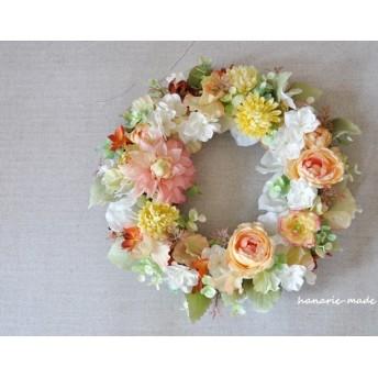 ダリア に 草紅葉をそえて: wreath