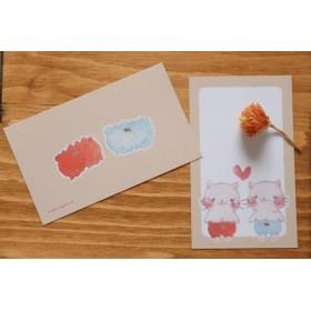 メッセージカード(かぼちゃぱんつねこ・ )