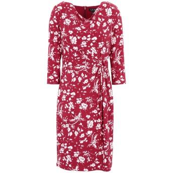 《セール開催中》LAUREN RALPH LAUREN レディース ミニワンピース&ドレス ガーネット 2 ポリエステル 95% / ポリウレタン 5% Trava 3/4 Sleeve Day Dress