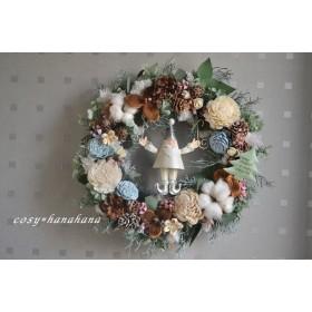 サンタのパステルXmas*wreath