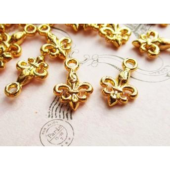 ユリの紋章チャーム30個ゴールド