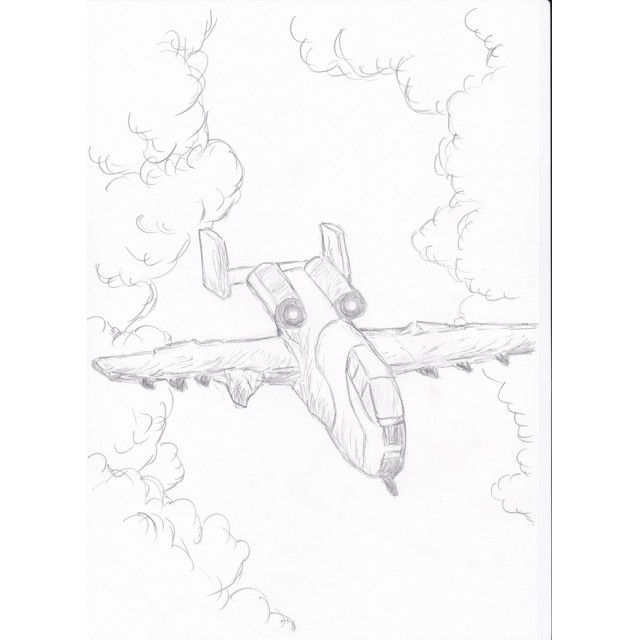 手描きイラスト 戦闘機