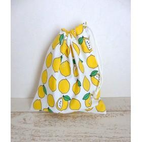 コップ袋 レモン 巾着袋 給食袋