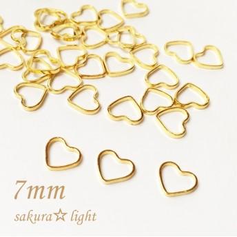 【40個】ハート フレーム 空枠 レジン枠 真鍮製 ゴールド 小