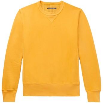 《セール開催中》FABRIC-BRAND & CO. メンズ スウェットシャツ オークル M コットン 100%