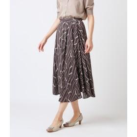 NEWYORKER ADVANCED COLLECTION(ニューヨーカーアドバンスドコレクション)/【店舗限定】スカーフストライププリント サーキュラースカート
