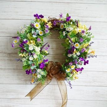 たっぷり小花のフラワーリース