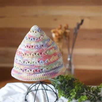 【SALE】カラフルな涼しげとんがり帽子