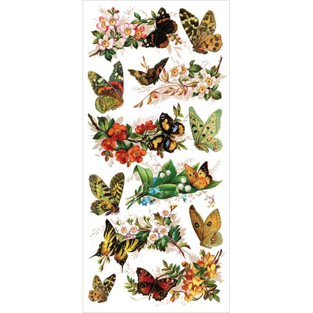 USAヴィクトリアンシール 蝶と花々 DA-VS016