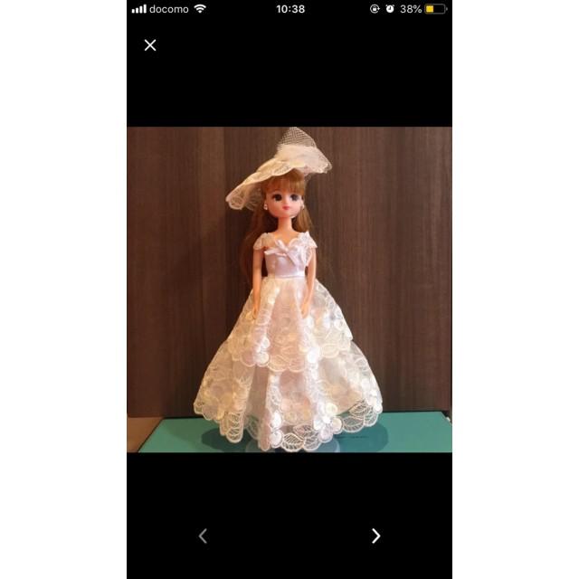 22センチドール用ドレス&帽子のセット