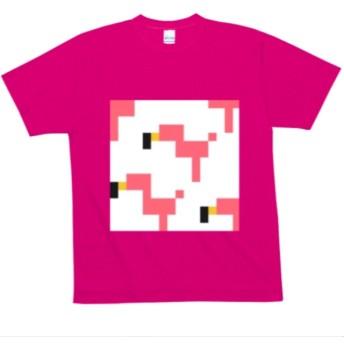 Tシャツ フラミンゴ ピンク