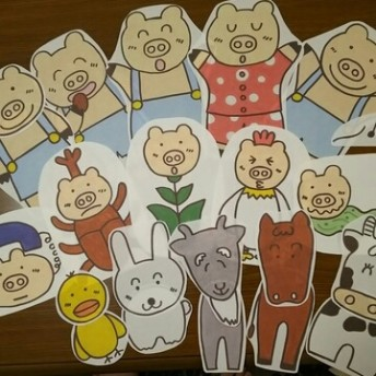 CD付き パネルシアター 3作品セット 保育 幼稚園 ペープサート