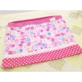 防災頭巾カバー34×45座布団タイプりぼんとちょうちょピンク