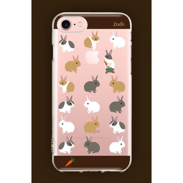 うさぎ iPhone 6/7/8専用 スマホケース ストラップホール付き クリア ウサギ