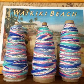 018 hawaiian tree ハワイ ハワイアン ネオン ブルー ピンク カラフル