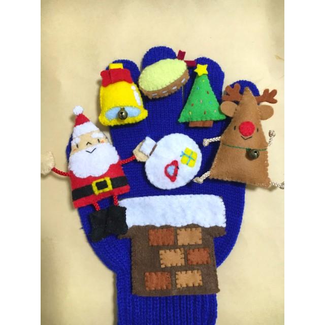 再販☆手袋シアター ☆ あわてんぼうのサンタクロース ☆赤鼻のトナカイ ☆クリスマス