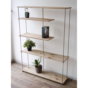 wood iron shelf 1275910225(アイアン 棚 ラック シェルフ ウッド 鉄 木 収納棚 アンティーク ビンテージ シャビー オープンラック 両面棚 多肉植物)