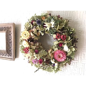 Botanical Flower 紫陽花のWreath