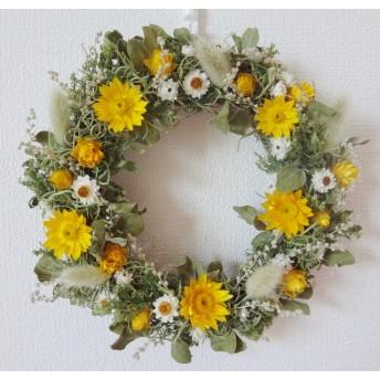 黄色のhappy wreath