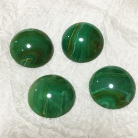 アクリルカボション4個(25×10mm)グラスグリーン
