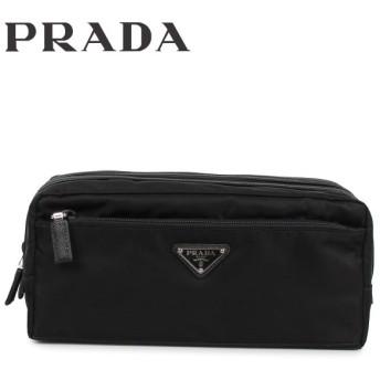 プラダ PRADA ポーチ セカンドバッグ 小物入れ メンズ レディース BEAUTY CASE DOPPIA ZIP ブラック 黒 2NA030064