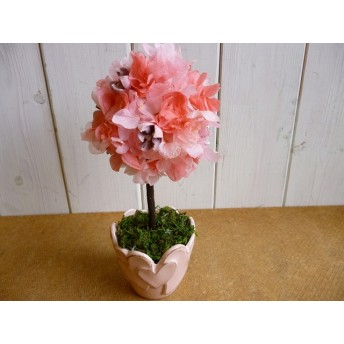 【母の日】ハート器のピンクトピアリー