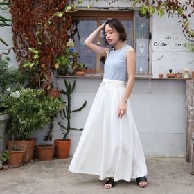スウェットマキシスカート ホワイト
