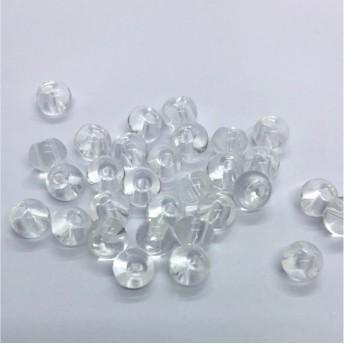 【434】ドロップ型 ガラスビーズ クリア 60個