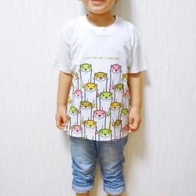 カラフルカワウソTシャツ(大人〜子供サイズ)【全面プリント】