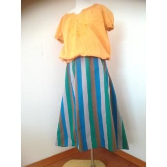横下がりのフレアースカート