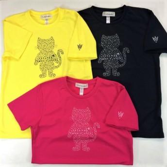 キャラクタープリントテニスシャツ(星田家3兄弟)ネコ柄