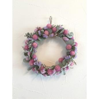 natural wreathe 〜センニチコウとユーカリのリース