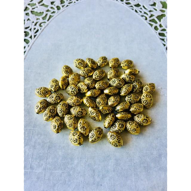 ゴールド花模様ビーズ