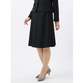 【THE SUIT COMPANY:スカート】<ウォッシャブル>【destyle】ミックスツイードフレアスカート