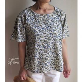 リバティ ふわり袖のラグランTシャツ