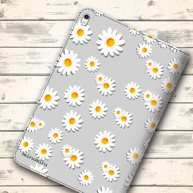 大人可愛いマーガレット 花柄 flow460 androidケース iPadケース タブレットケース iPadmini5