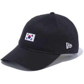 【メーカー取次】NEW ERA ニューエラ 9THIRTY Cloth Strap ナショナルフラッグ 韓国 ブラック 12026721 キャップ(ブラック)