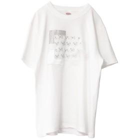くままみれコラージュTシャツ(ホワイト)