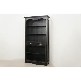 アンティーク調 ブックシェルフ 大型ラック 飾り棚 本棚 什器 黒