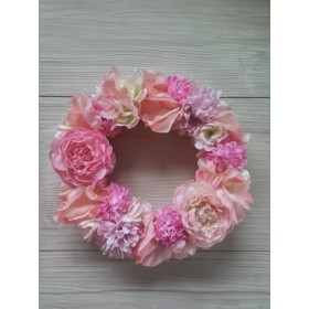 女子力アップ ピンクのふわふわリース