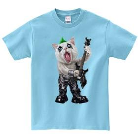 半袖Tシャツ 【ネコのロックスター・猫・ねこ】 by FOX REPUBLIC