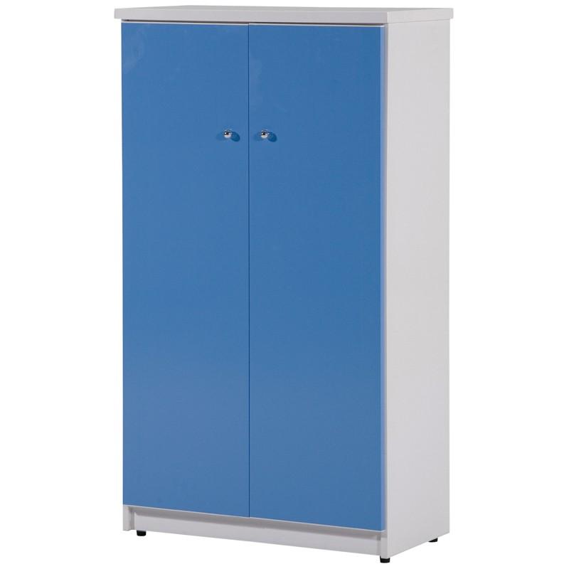 【C985-01】六層塑鋼鞋櫃(SH-209)(藍門、白色)(附5片隔板)塑鋼材質
