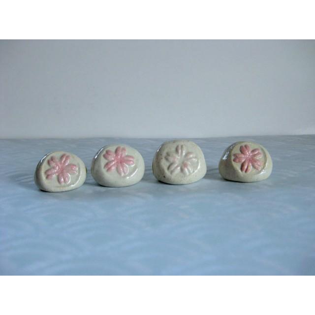 美土露(A) 陶器 さくら 桜 サクラ 花 メモスタンド プライススタンド フォトスタンド