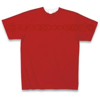 有効的異常症候群黄線前◆アート文字◆ロゴ◆ヘビーウェイト◆半袖◆Tシャツ◆レッド◆各サイズ選択可