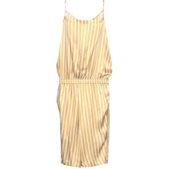 《セール開催中》HUMANOID レディース 7分丈ワンピース・ドレス オークル S レーヨン 100%