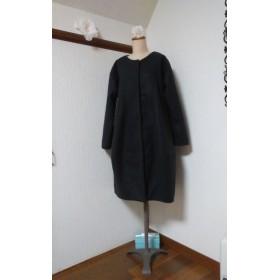 ウール カシミヤ混 ブラック バルーンコート 有り難うございました