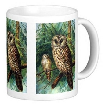 フクロウのイラストのマグカップ:フォトマグ(世界の野生動物シリーズ)