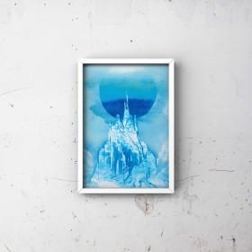「氷の城」風景画