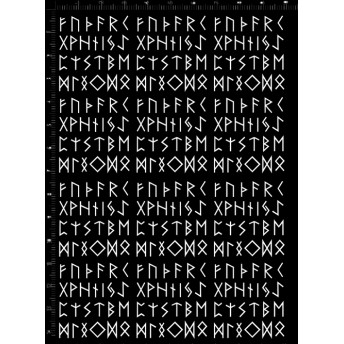 レジンパーツ. RU.09-01.神秘的なルーン文字 白