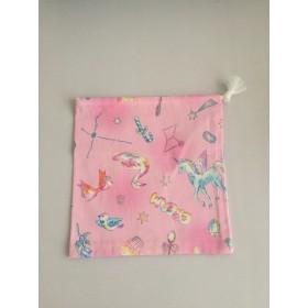 星座柄巾着 ピンク色